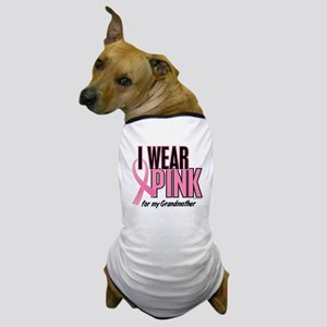 I Wear Pink For My Grandmother 10 Dog T-Shirt